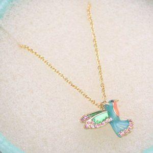 💖Kate Spade Diamond Hummingbird Necklace